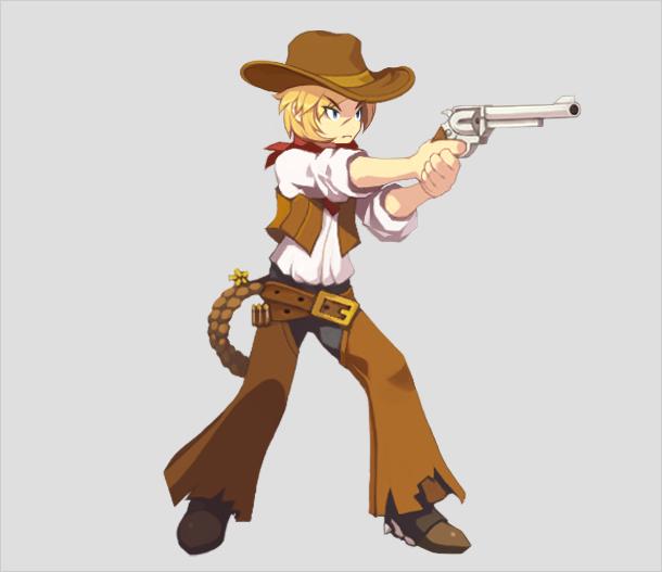 """西部牛仔卡通图片; 牛仔比利 """"孤寂的西部牛仔枪手"""";; 牛仔比利"""
