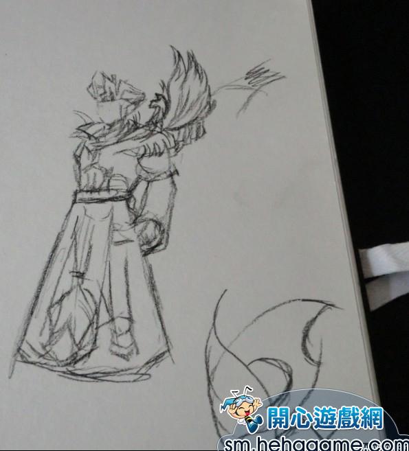 玩家纯手绘素描版神魔人物作品赏析