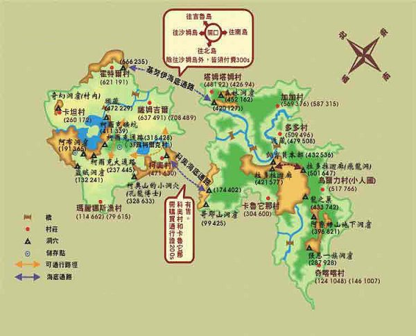 波拉波拉岛地图