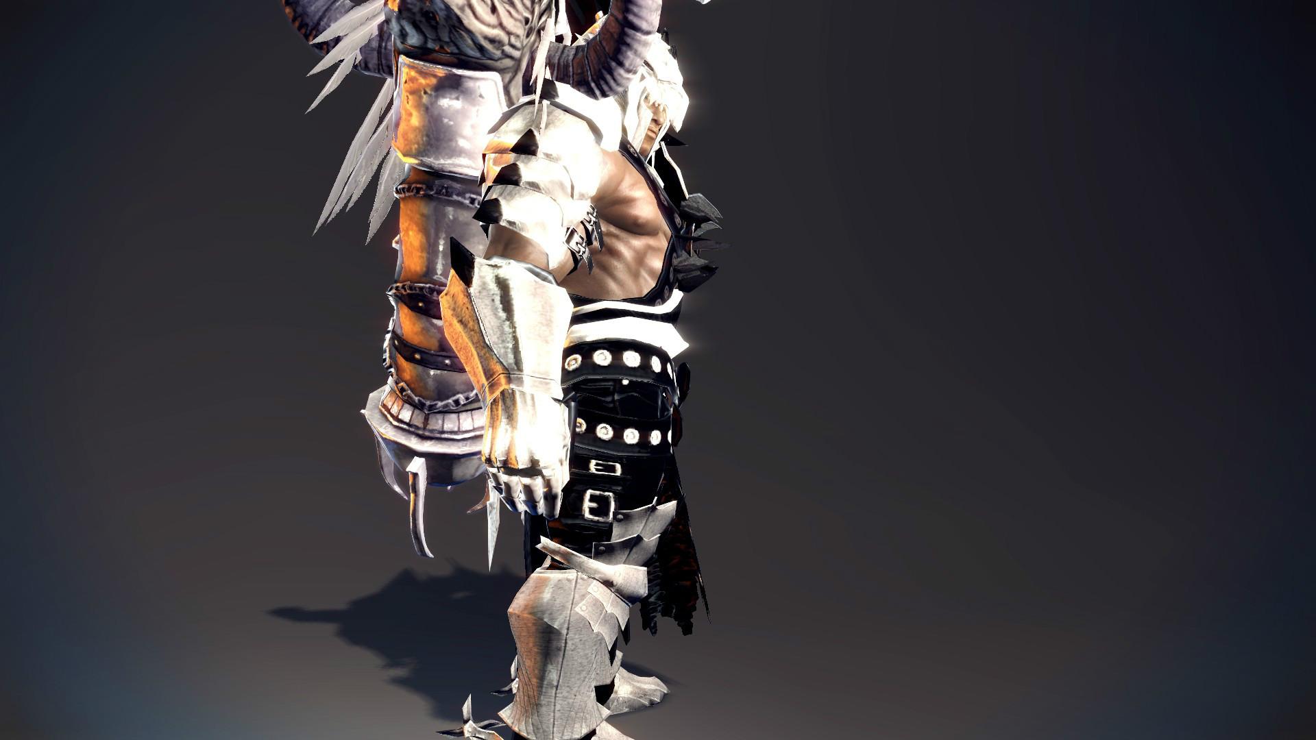 卡鲁霸气丘麟套装,野蛮人风格展示