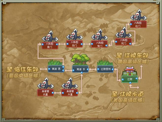 蜀国高级区-冒险地 地图