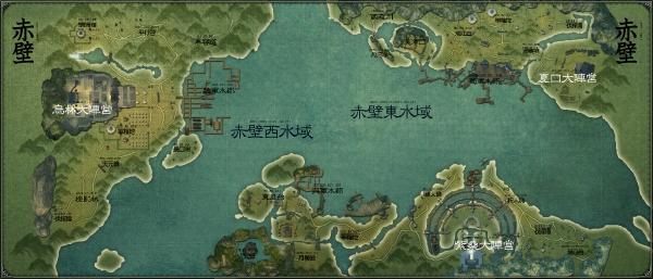 赤壁大战采用全新超大场景地图,真实的展现出了三国时期大型战船的