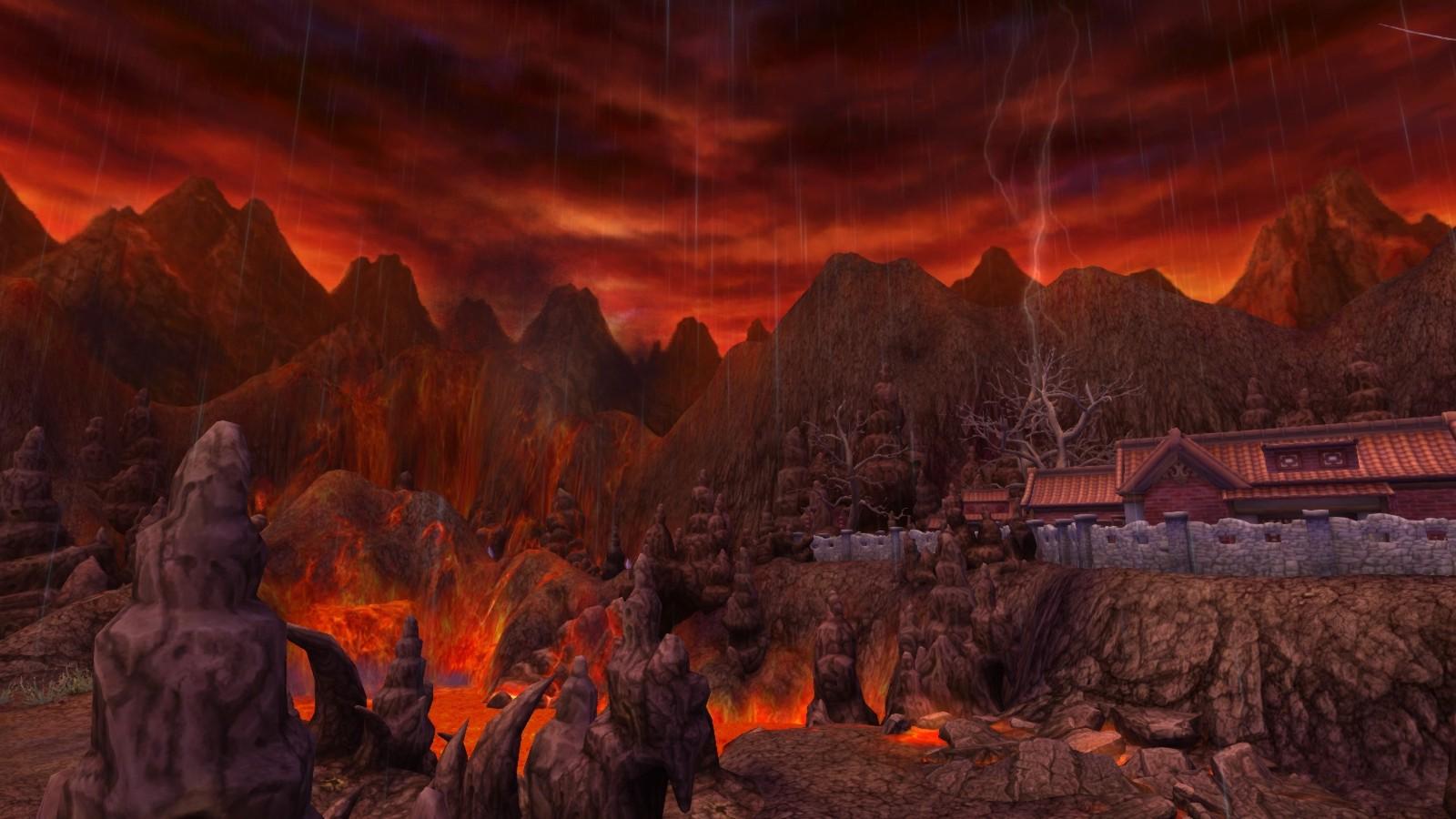 03不時有落雷打下來的雷火峰,有著征戰的氛圍