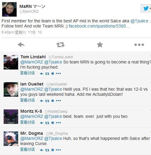 歐美新興戰隊即將建立:Salce首先確認加盟 - 外服新聞 - League of Legends - LOL英雄聯盟中文網 - LOL騰訊官方合作網站 - 英雄聯盟 -(LOL.UUU9.COM)