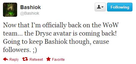 Bashiok 正式回歸魔獸世界社區團隊