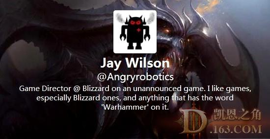 Jay Wilson 微博自爆出任暴雪新遊戲總監
