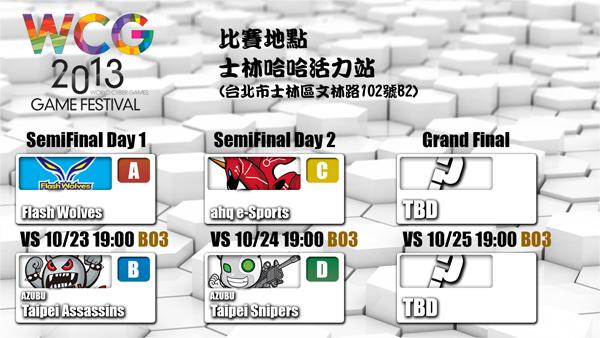 WCG台灣地區選拔賽 四強爭一席之位
