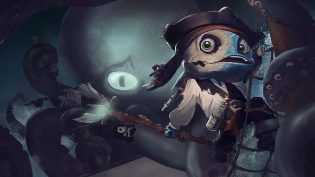 玩家皮膚設計:加勒比海盜 小魚人菲茲