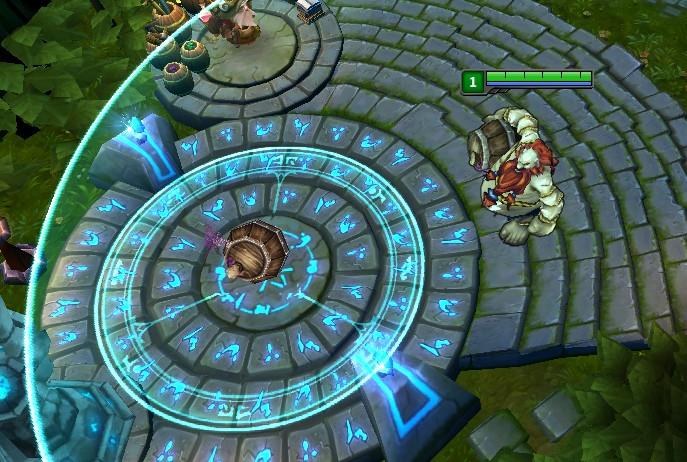 玩家:酒桶Q應加敵人可見的AOE指示器