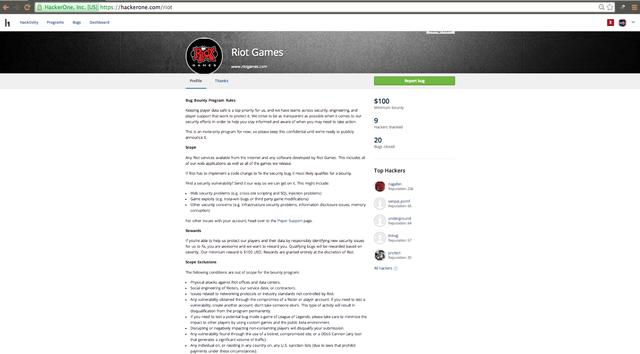 Riot啟動LOL安全漏洞基金 已發放10萬美元獎金