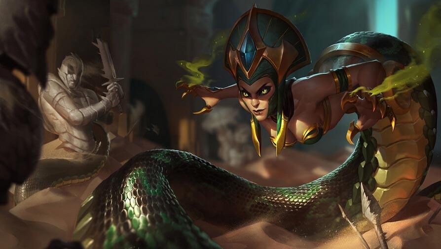 4.21版本蛇女成熱門 前期對線無人能敵